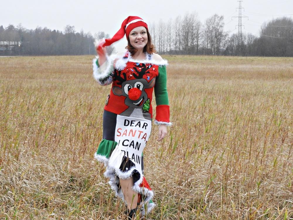 Ruma joulupaitamekko - Käsityöblogien joulukalenteri 2020